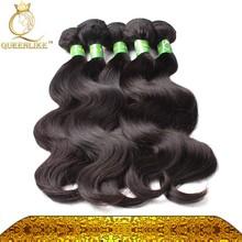100 unprocessed machine hair weft. origin brazilian body wave.free weave hair packs