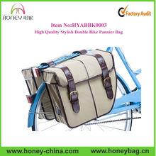 High Quality Stylish Functional Canvas Double Custom Bike Pannier Bag