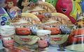 الطرف الامدادات تحت عنوان عيد ميلاد الأولاد وزخارف السيارات مستلزمات عيد ميلاد الحزب الحسنات كأس منديل راية