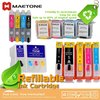 Refillable Ink cartridge, T1251-T1254, compatible ink cartridge for Stylus NX125 /NX127/NX420/NX625