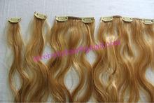 full head white blonde easy clip hair extension