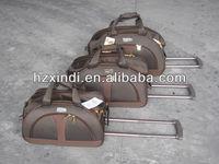 2013 fashion design 4pcs trolley bag with brand