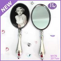 HX-1121 Wholesale Diamond Handheld Hand Held Mirrors