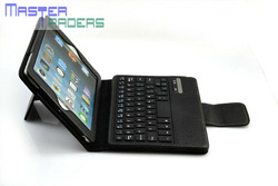 New Leather Stand Case Cover With Wireles Bluetooth Keyboard For iPad Mini MT-0587 XY