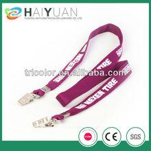 Double clip lanyard/Promotional custom lanyards no minimum order