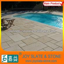 Non-slip sandblasted natural french limestone