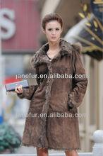 Ladies' Lamb FUR Shearling Garment,DOUBLE FACE SHEARING FUR COAT fashion and hot selling