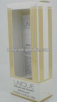2013 top sale 125ml white background gorgeous yellow stripes design transparent perfume wrapping boxes
