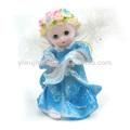 9659-cq bebé resina crasft querubín la lectura de los ángeles con figuras de alas de plumas de luz para el regalo o decoración