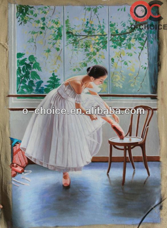 راقصة باليه جميلة فتاة ترقص النفط اللوحات
