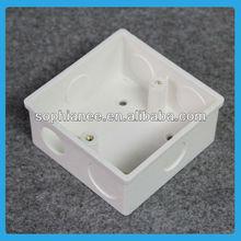 Hotsale Single Gang Flush Type Pvc Wall Mounted Box