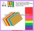 2013 vender mejor adhesivo de papel fluorescente/de cartón