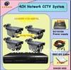 4ch H.264 DVR with Low aluminum analog camera cctv dvr systems