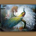 hecho a mano nuevos diseños de pavo real de pintura al óleo sobre lienzo