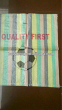 multi color pp woven sack with punched handle