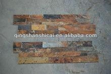 chinese slate flexible culture stone veneer panel stacked slate