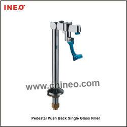 Pedestal Push Back Single Glass Filler Bar Faucet