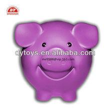 custom make transparent pig shaped pink piggy bank for kids