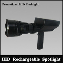 Long work time rechargeable Hand held hid spotlight durable 25w powerful searchlight