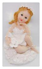 Polyresin handmade color angel figurines