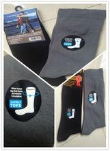 2014 high quality 100% cotton diabetic socks men