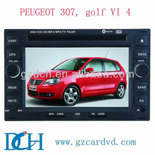 double din car dvd gps for peugeot 307, golf VI 4 WS-7016