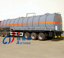 China 2 or 3 axles asphalt transporter with heating system for sale(semi truck trailer type)