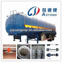 30-50CBM bitumen asphalt tanker semi trailer with heating system for tractor