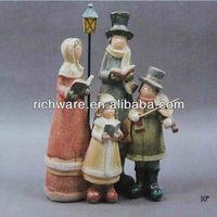 Christmas Resin Glitter Choir Family Figurines for Christmas Decoration