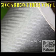 car body 3d silver carbon fiber vinyl