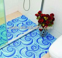 PVC foam funny bath mat anti-slip bath rugs shower mats