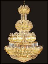 Luxury big hotel gold crystal chandelier 8040-16