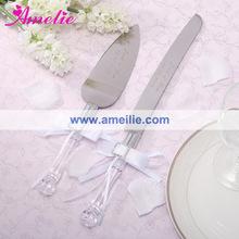 Elegant Acrylic Wedding Cake Knife Serving Set