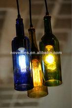 Wine Bottle lights For Bar Cafe with Edison light Bulb