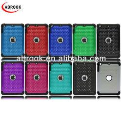 For ipad mini case with rhinstone,combo case for ipad mini
