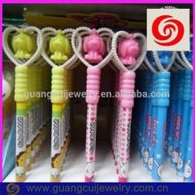 fashion plastic hotsale cartoon dog pen with heart