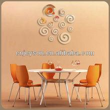 MR047 Modern design die cut reflective mirrors stickers form home decoration