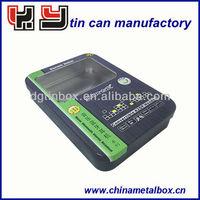electronic metal tin box