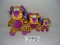 """6""""/9""""/12"""" hermosa de promoción adaptansuave de peluche de felpa tigre de juguete de los animales de dibujos animados con los ojos"""