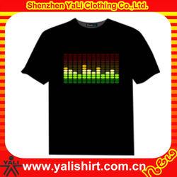Men's 2013 new style china led t-shirt
