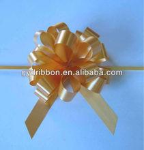 Süslemekiçin güzel ve şal sepeti/hediye altın çekme şerit yay