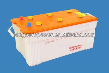 N180 Dry Battery / Auto battery / MF battery 12V180AH