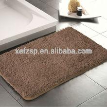 soft microfiber polyester bath room mat