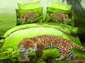 la caza de leopardo 3d conjunto ropa de cama