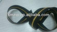 metallic Fancy zippers Gold slider