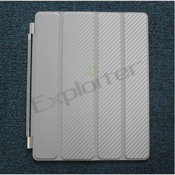 For new ipad carbon fiber smart cover