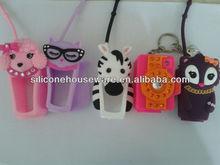 3d animal silicone hand sanitizer gel Pocketbac Holder