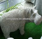 small Stone birds animal carving/small granite animal sculpture