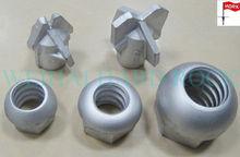 machined steel inside T thread sphere domed head hex nut