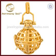 Newest design 18k yellow gold plate net harmony ball